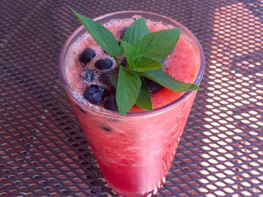 watermelon-mint-slush-with-blueberries